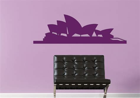 wall stickers sydney sydney silhouette architecture wall stickers adhesive wall