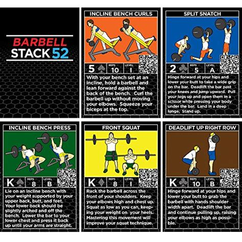 Weight Of A Gift Card - barbell exercise cards by strength stack 52 weight lifting playing card game video