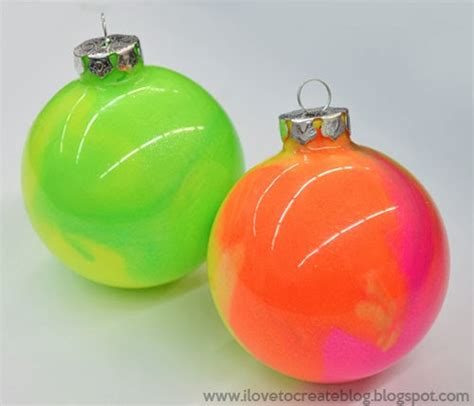 neon ornaments how to make neon marble ornaments hometalk