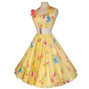 1950s halter rose garden yellow dress by vivien of holloway thisnext