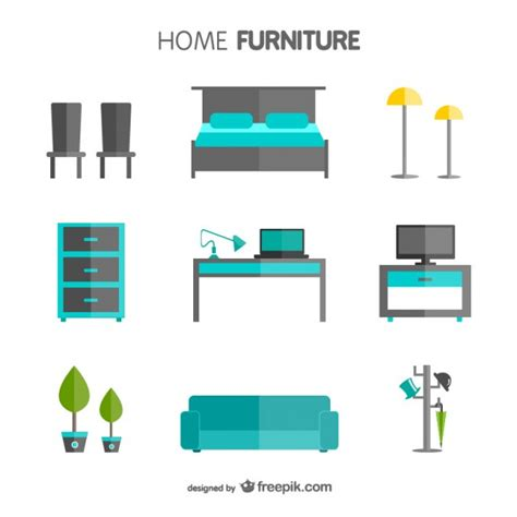 home furniture pack vector free