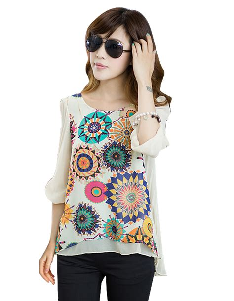 Style Vintage Tees Crop Top Original Design Zara retro print blouse sleeved blouse