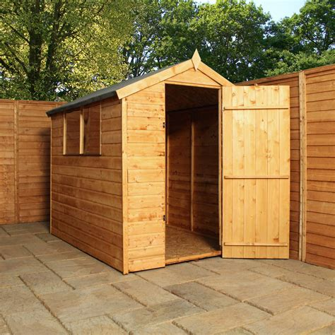 shedswarehouse oxford installed 6ft x 4ft tongue groove apex shed with single door 2