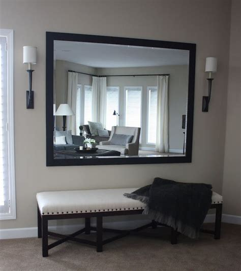 mirror with bench underneath armchairs benches