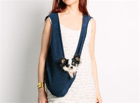 puppy carrier sling scarf sling small puppy pet carrier with harness clip in