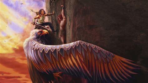 mythology eagle fantasy art wallpapers hd desktop