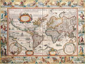 antique map of the world nations project