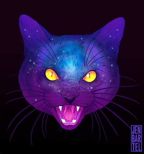 cat wallpaper graphic illustrator jen bartel s awesome galactic cats