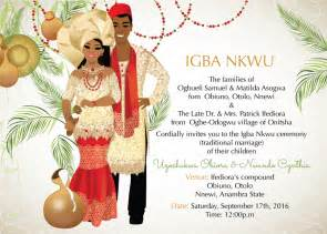 Wedding Reception Program Wording Nigerian Traditional Wedding Invitation Card