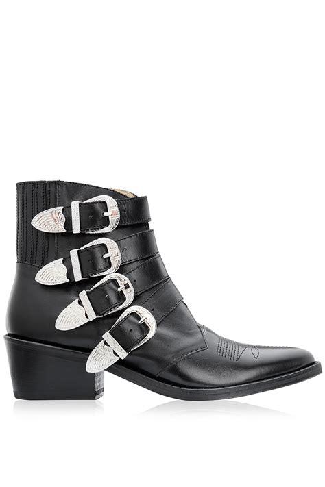 toga pulla multi buckle ankle boots black 365ist
