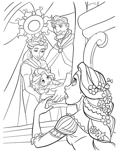 tangled coloring pages coloring kids