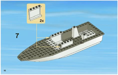 lego boat step by step lego fishing boat instructions