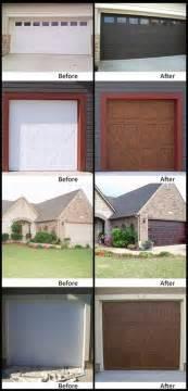Garage Door Paint Ideas Faux Wood Paint Your Garage Door Home