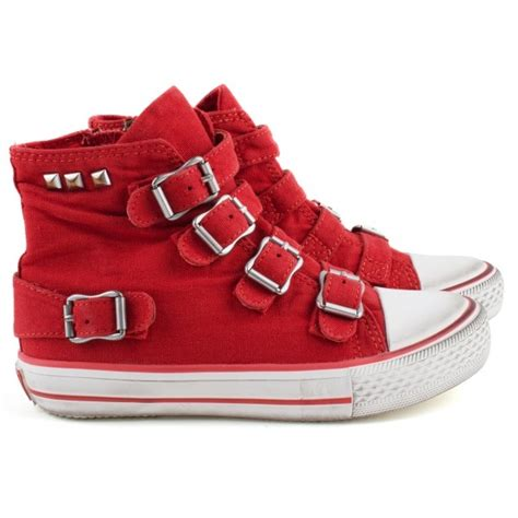 tops shoes and bags on pinterest 1173 pins ash shoes red high tops with buckles at alexandalexa com