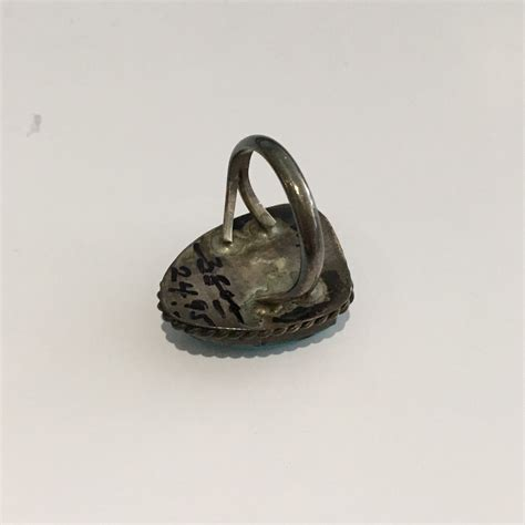 vintage sterling silver turquoise ring size 5 25 ebay