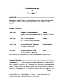 a objective to put on a resume sles of resumes