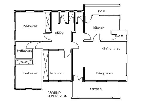 three bedroom house plans three bed home plans three free