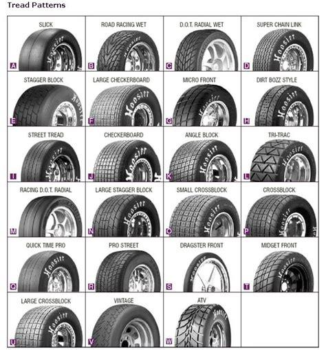 tread pattern name hoosier tires tread patterns hoosier tires