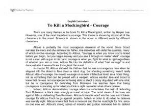Essay On To Kill A Mockingbird by Courage In To Kill A Mockingbird Gcse Marked By Teachers