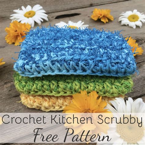 crochet pattern kitchen this cotton scrubby is designed to have the same look and