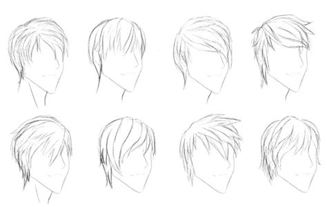 anime hairstyles side view drawing anime boy with short hair simple boy anime