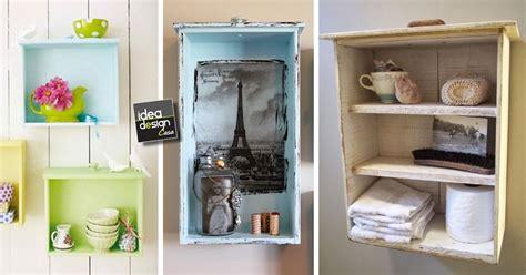 mensole con cassetti vecchi cassetti diventano mensole ecco 20 idee
