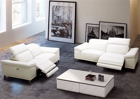 Gaia White Leather Power Reclining Living Room Set From White Leather Living Room Furniture