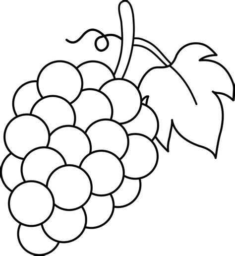 pattern ea page 34 line art of a bunch of grapes free svg pinterest