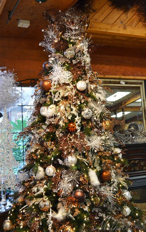 platinum bronze themed christmas tree trees topiary