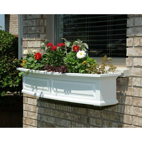 box window mayne 4 ft nantucket window box in white 4831 w the