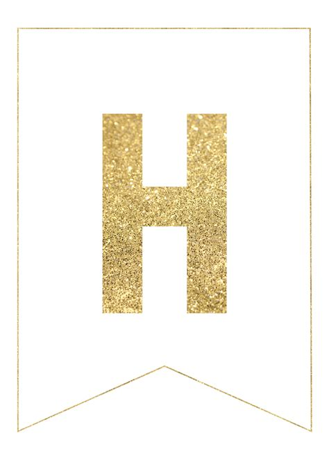 Printable Banner Letters Gold | gold free printable banner letters paper trail design