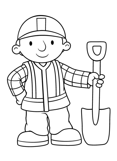 coloring page bob the builder coloring pages 2