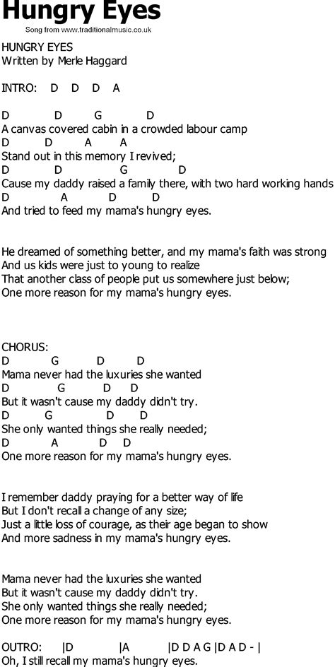 country song lyrics country song lyrics with chords hungry