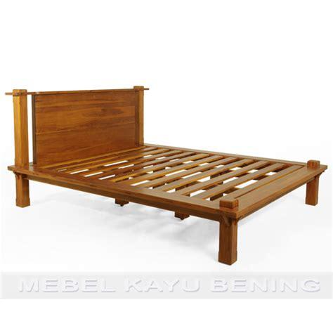 Tempat Tidur Kayu Biasa Minimalis tempat tidur kayu jati model minimalis platform