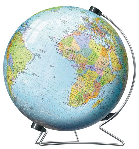 Kigumi World Globe 3d Puzzle ravensburger the world on v stand globe 540 pc 3d jigsaw