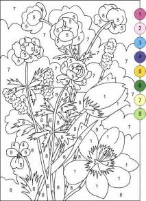 color by number adults color by number coloring pages for adults cooloring