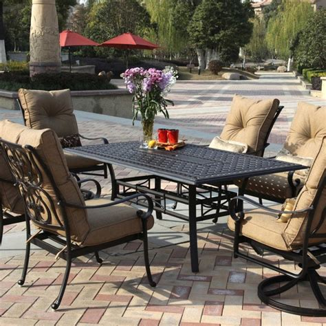6 patio dining set darlee santa 6 person cast aluminum patio dining set