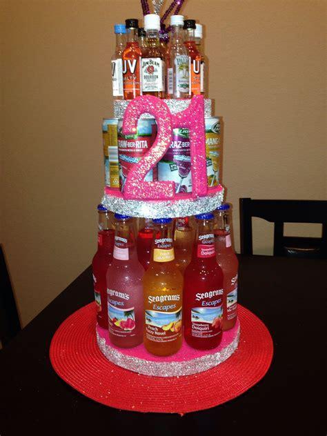 21st Alcohol Birthday cake   DIY   21st birthday gifts