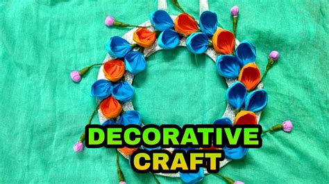 how to make home decorative things how to make decorative items with paper at home youtube