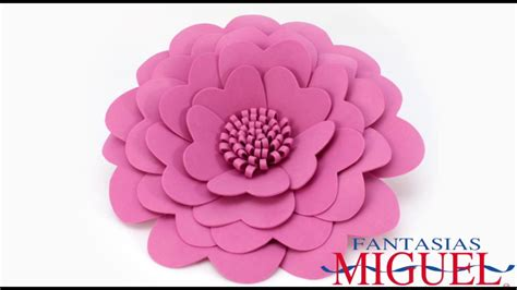 imagenes de rosas en foami flores de fomi youtube