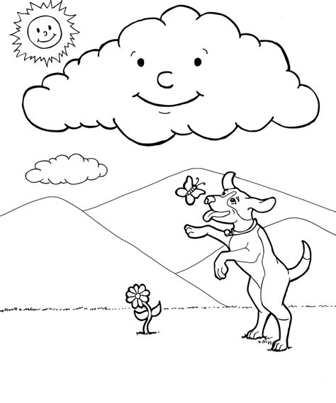 different types of clouds coloring page coloring pages