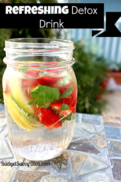 Detox Beverages by Refreshing Detox Drink Recipe Budget Savvy