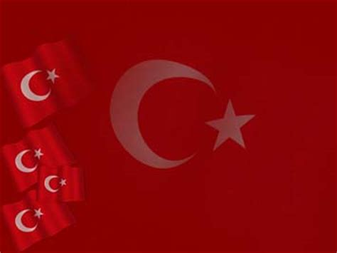 Turkey Flag 03 Powerpoint Templates Turkey Powerpoint Template