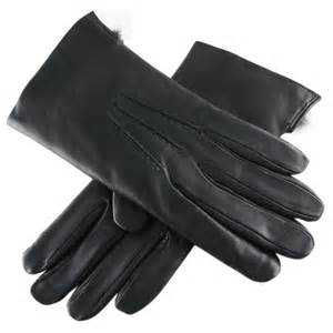 leather gloves black co uk black leather gloves with rabbit lining in black for lyst