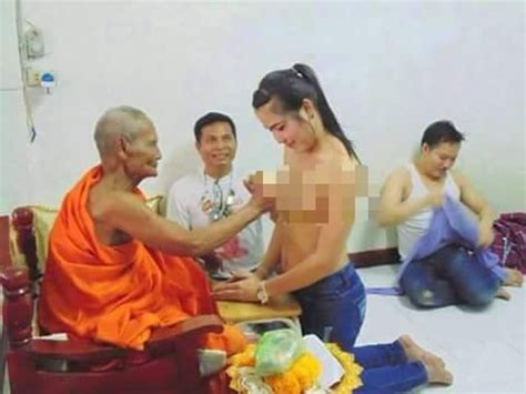 what s this monk doing with those