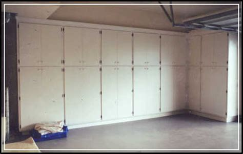 garage door cabinets creating diy space saving garage cabinet plans home