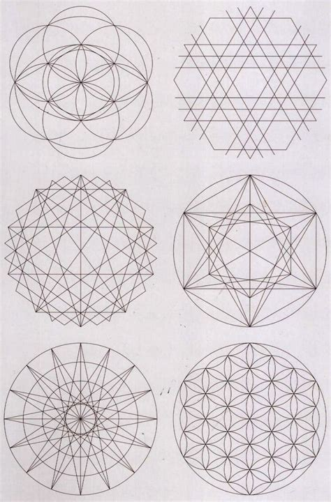 geometry designs geometric pattern circles art pinterest flower of