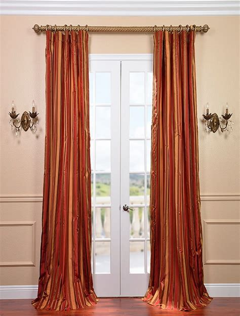 satin drapes melrose silk taffeta satin stripe curtain contemporary
