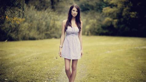 wallpaper girl dress long hair dress girl in the nature wallpaper girls