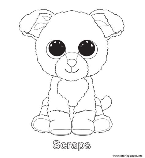 boo dog coloring page print scraps beanie boo coloring pages coloring quilt